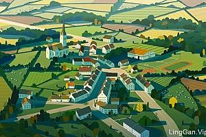 英国Colin Bigelow风景插画作品- 灵感